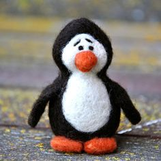Kid's love this kit! Everything you need to make this adorable needle felted Penguin.