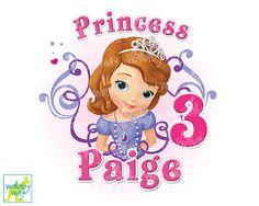 Disney Princess Sofia the First Birthday Princess Printable Iron On Transfer or Clipart- Perfect for a Sofia the First Birthday Party - Digital