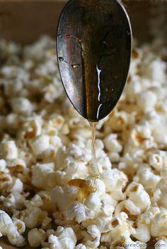 Honey Butter Popcorn - 15 After School Snacks for Kids | GleamItUp