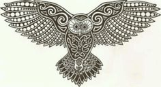 Owl tattoo stencil - Owl Free Tattoo Stencil - Free Owl Tattoo Designs For Men - Free Owl Tattoo Designs For Woman - Customized Owl Tattoos - Free Owl Tattoos - Free Printable Owl Tattoo Stencils - Free Printable Owl Tattoo Designs Celtic Tatoo, Celtic Art, Celtic Dragon, Owl Tattoo Design, Tattoo Designs, Tattoo Ideas, Buho Tattoo, Celtic Animals, Tattoos Realistic