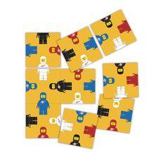 Crazy Spaceman Puzzle  Easy Level  Retro 9 piece by paper4download