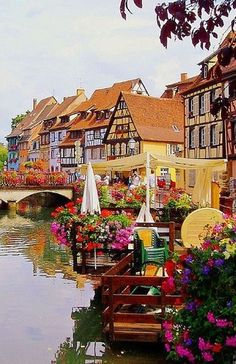 Spring in Colmar, France. Go to www.YourTravelVideos.com or just click on photo for home videos and much more on sites like this.