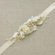 Свадебный пояс, пояс для свадебного и вечернего платья, декор на талию.