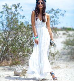 vestido largo casual blanco 2015