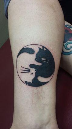 my Yin Yang Cat tattoo done at Sacred Art Tattoo