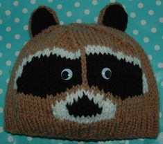 9811de326e4 Ravelry  Chunky Racoon Hat - Childrens to Adults pattern by Knits -r-us