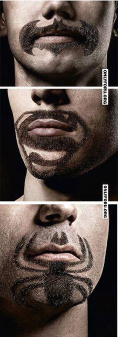 Superhero Facial Hair - #awesome