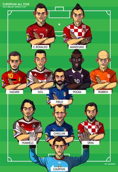 European All Star via 2014 Brazil World Cup