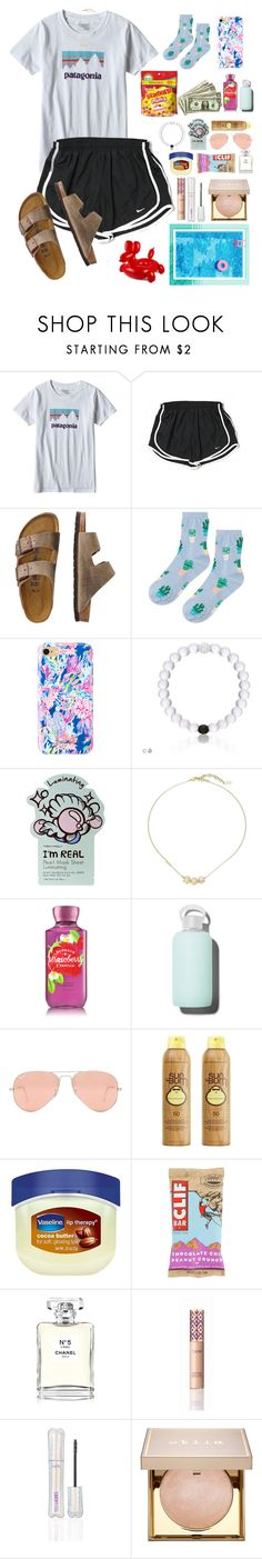 """""""Can't wait to see kylie"""" by bellarose05 ❤ liked on Polyvore featuring Patagonia, NIKE, TravelSmith, Topshop, Lilly Pulitzer, TONYMOLY, Cole Haan, bkr, Ray-Ban and Sun Bum"""