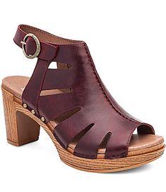 Dansko Demetra Vintage Leather Caged Slingback Buckle Sandals #Dillards