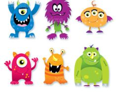 Little Monster Clipart / Monsters by JulyDigitalImages Monster Eyes, Monster Book Of Monsters, Cute Monsters, Little Monsters, Monster Rocks, Scary Monsters, Monster 1st Birthdays, Monster Birthday Parties, Monster Party