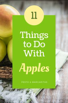 Apples are around all year but there's something about them and autumn.  There's so many things you can do with apples and here are 11 ideas so if you buy that pack that caught your eye in the supermarket, none will go to waste.  Click to read more