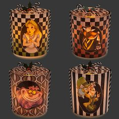 Alice in Wonderland Glass Candle Holder Set   Home Accents   Disney Store