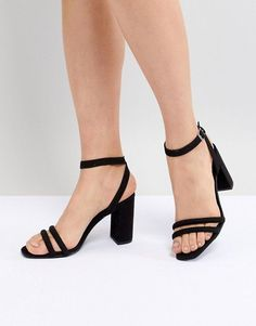 cc9dc09cb New Look Tube Strap Block Heel Sandal