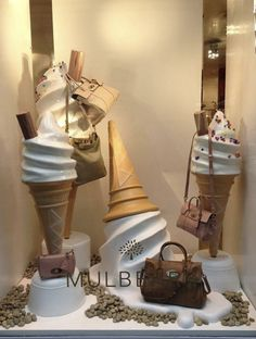 """Mulberry windows at Banner Boutique Biffi"" Visual Merchandising"