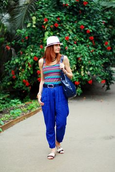 b065c6426066 Striped tank   loose blue pants by Not Dressed As Lamb