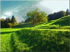 """'Wandkacheln """"Herbstlicht (2)""""' von Rudolf Büttner bei artflakes.com als Poster oder Kunstdruck $18.02"""