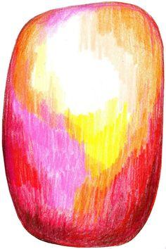 Moooi Carpets Scribble Red Yellow vloerkleed