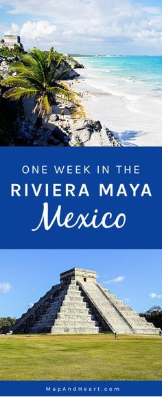 One Week Itinerary in the Riviera Maya, Mexico #travelwishlist #mexico #beaches