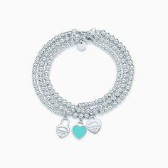 Return to Tiffany® multi–heart tag bracelet in sterling silver, medium.