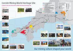 CORNISH MINING WORLD HERITAGE SITES   CMAMA: Map     ✫ღ⊰n