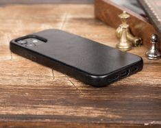 Genuine Leathet Cover Iphone Leather Case, Iphone Wallet Case, Iphone Cases, Car Holder, Leather Cover, Mini, Handmade, Black, Etsy