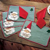 Santa Suit Christmas Table Runner from Collections Etc.