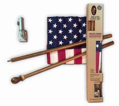 Deluxe Boxed U.S. Flag Kit With Mahogany Pole