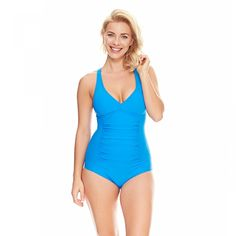 8244c21939e95 Zoggs Womens Zen Resort Trinity Twistback Swimsuit - sizes 8-18, fixed foam  cups