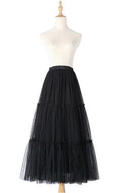 Ladies tulle pleated skirt summer long elegant tutu skirt S39