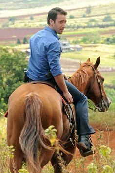 Alex O'Loughlin -- gota love a man on a horse!