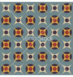 Geometrical pattern in retro colors vector on VectorStock®