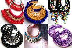 Accesorios de crochet: Fotos de diseños y patrones - Pendientes de crochet