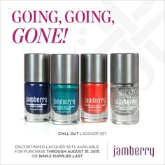 #Jamberry #GGG #B3G1 Stock up before they are gone! #ChillOutLacquerSetJN Shop anytime at https://jamminmomma79.jamberry.com/
