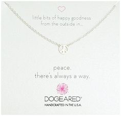 Dogeared Mini Peace Sign Soldered Sterling Silver Chain Necklace 16 >>> Check out the image by visiting the link.