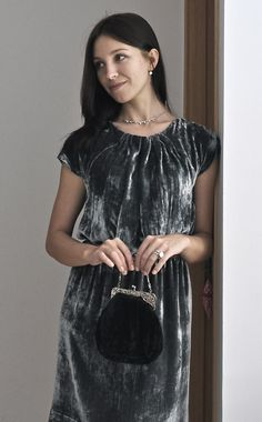 Бархатное платье Burda 8/2009 #113
