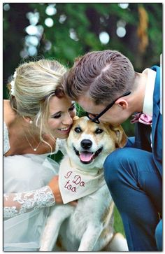 diy dog wedding dress Photos With Dog, Save The Date Photos, Wedding Humor, Wedding Pictures, Wedding Songs, Girl And Dog, Dog Bandana, Wedding Styles, Wedding Ideas