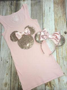 Disney Minnie Mouse Ladies Sketch Short Sleeve Pyjamas Set
