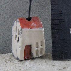 Raku Handmade House Bead by oscarcrow on Etsy, $6.00