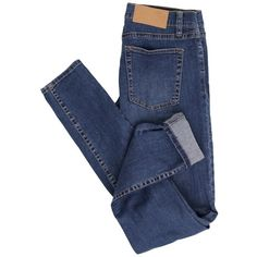 Cheap Monday Slim Credit Mid Blue Jeans (19 BRL) ❤ liked on Polyvore featuring jeans, pants, bottoms, pantalones, cheap monday, blue skinny jeans, slim fit jeans, slim fit blue jeans and slim cut jeans