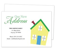 14 best moving announcements new address postcard for Moving home cards template