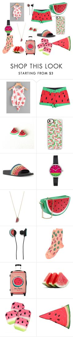 """""""Watermelon Haul"""" by explorer-15012017573 ❤ liked on Polyvore featuring Casetify, INC International Concepts, Betsey Johnson, Forever 21, HOT SOX, IKASE, DENY Designs, Silken Favours and watermelon"""