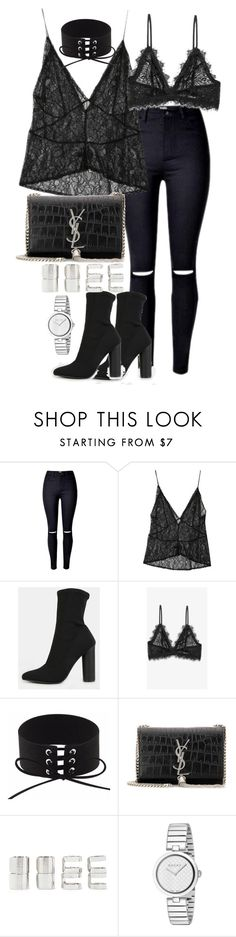 """""""Untitled #2958"""" by theeuropeancloset ❤ liked on Polyvore featuring StyleNanda, Anine Bing, Yves Saint Laurent, Forever 21 and Gucci"""