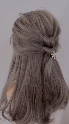 Bun Hairstyles For Long Hair, Vintage Hairstyles, Braided Hairstyles, Simple Hairstyles, Hairstyles Videos, Medium Thin Hairstyles, Wedding Hairstyles, Quinceanera Hairstyles, School Hairstyles
