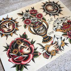 """82132a791 Julian Sautter ⚒⚒⚒ on Instagram: """"Alles noch als Tattoo zu haben, außer die  Hand mit dem Brief. Gönnt euch! #tattoo #traditional #traditionaltattoo ..."""