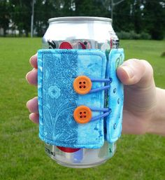Leslie's Art and Sew: Summer Sewing: Soda Can Cozy Tutorial
