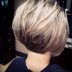 stacked bob haircut pictures back head Suitable for for anyone who is bored with the old style