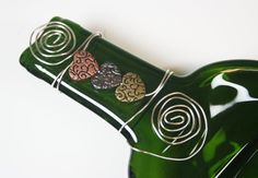 Flattened Slumped Melted Wine Bottle Recycled  by GibsonPottery, $20.00