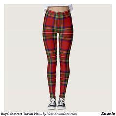 Royal Stewart Tartan Plaid Scottish Pattern Leggings