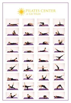 Pilates mat, visual reminder